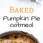 Pumpkin Pie Oatmeal is a belly warming bowl of goodness. Fall in a bowl, all made in one pan and freezer friendly