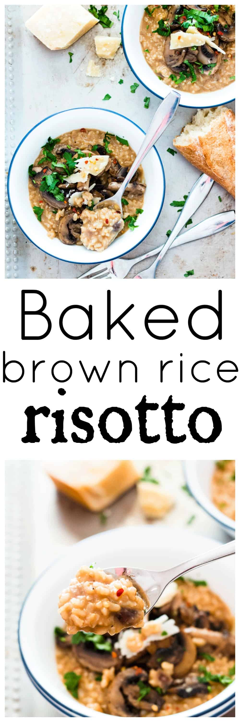 Baked Brown Rice Risotto