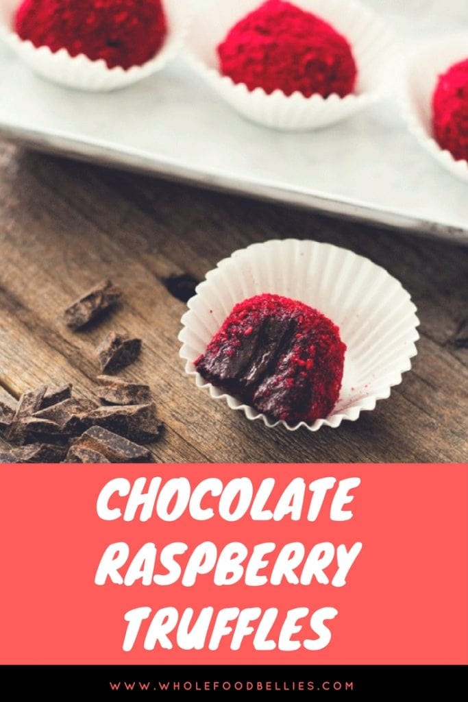Raspberry Chocolate Truffles Pin