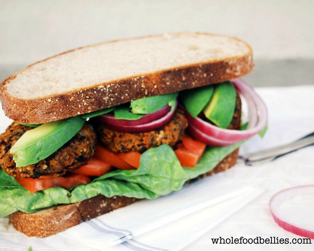 Sweet Potato and Black Bean Burgers @wholefoodbellies.com