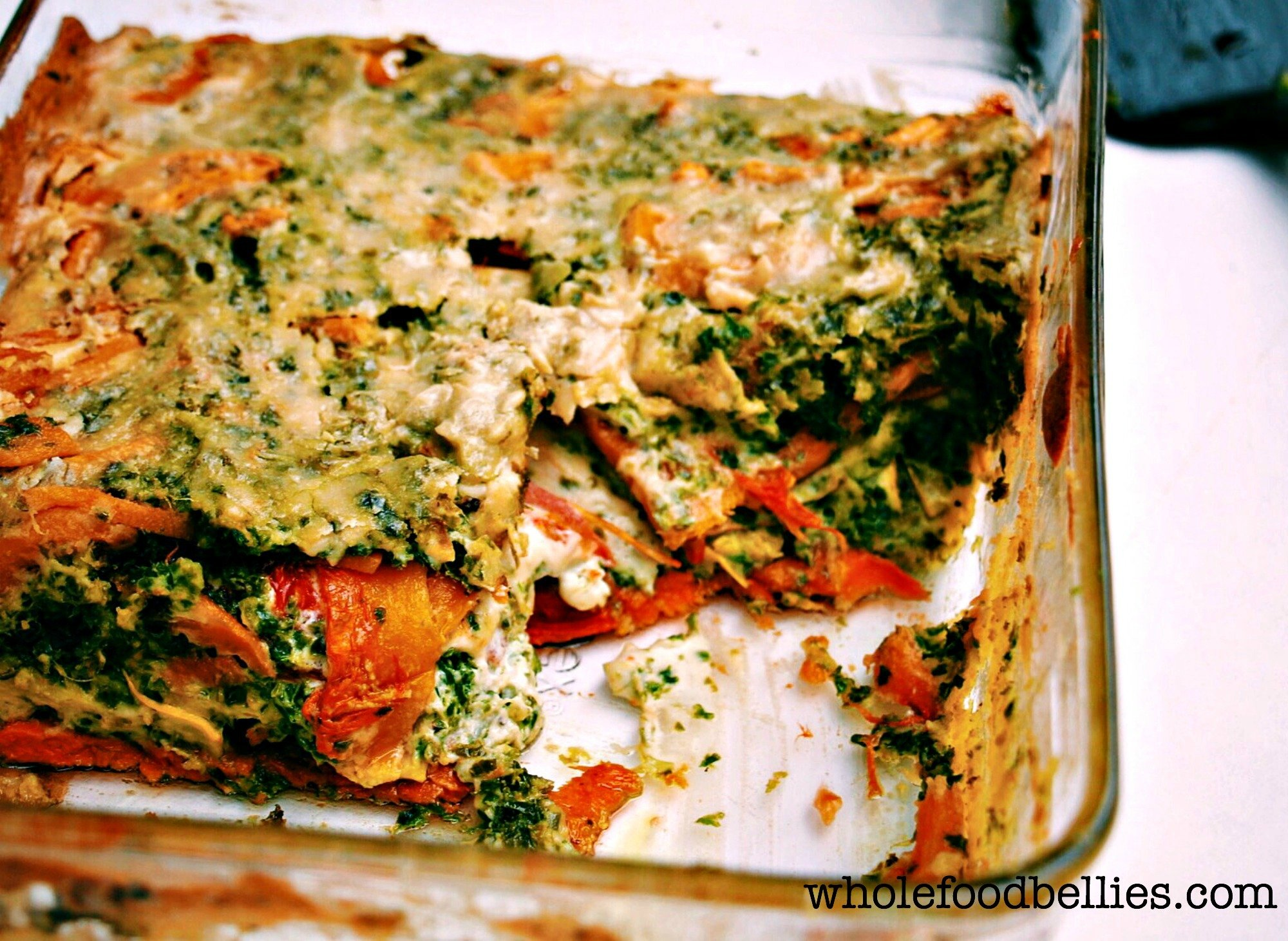 roasted vegetable and spinach pesto lasagna