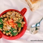 Chickpea, Spinach and Brown Rice Pot