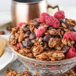 homemade chocolate raspberry granola
