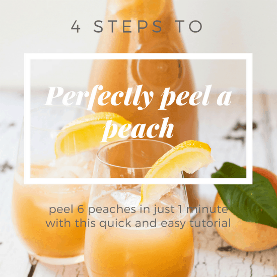How to Perfectly Peel a Peach