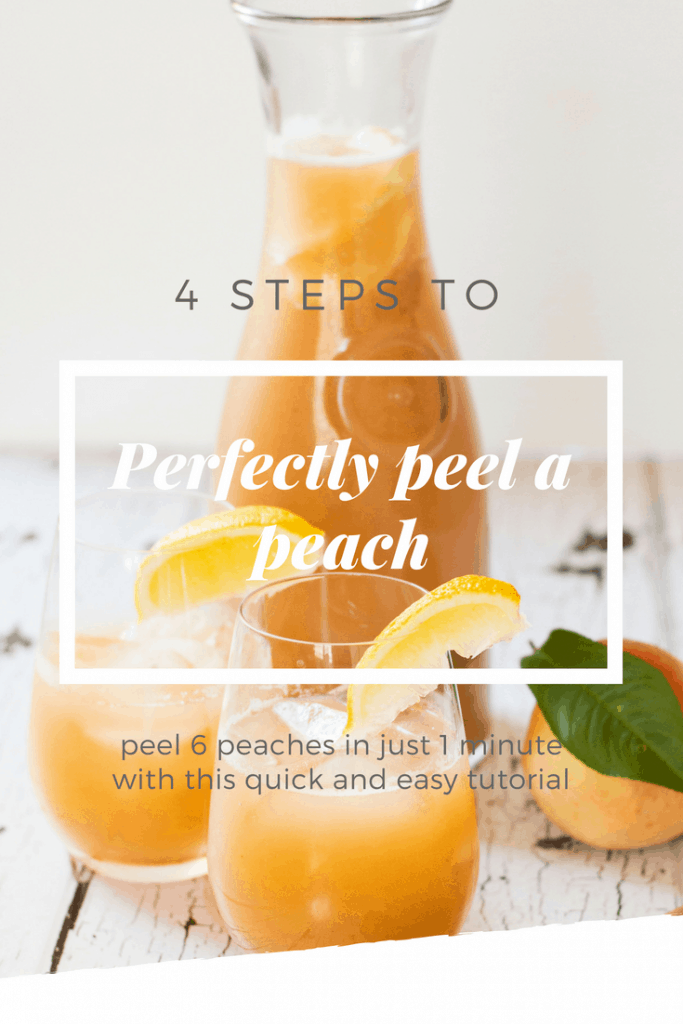 How to Peel a Peach instructional guide