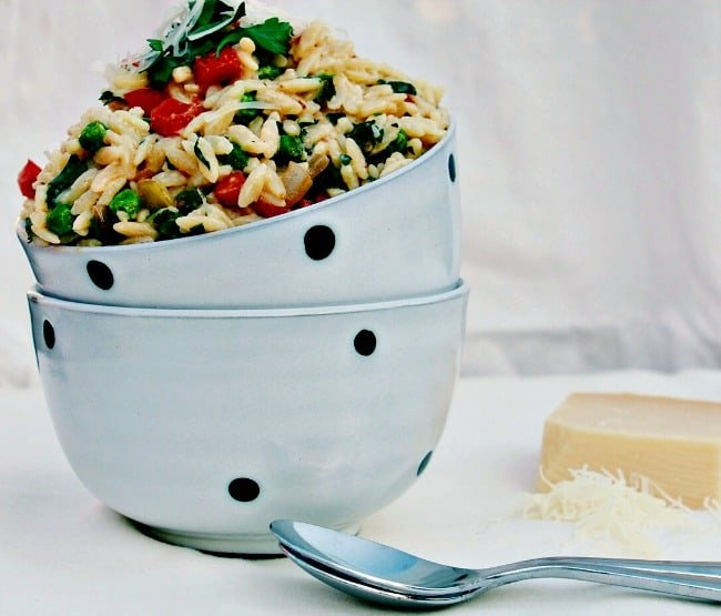 Creamy Parmesan and Vegetable Orzo