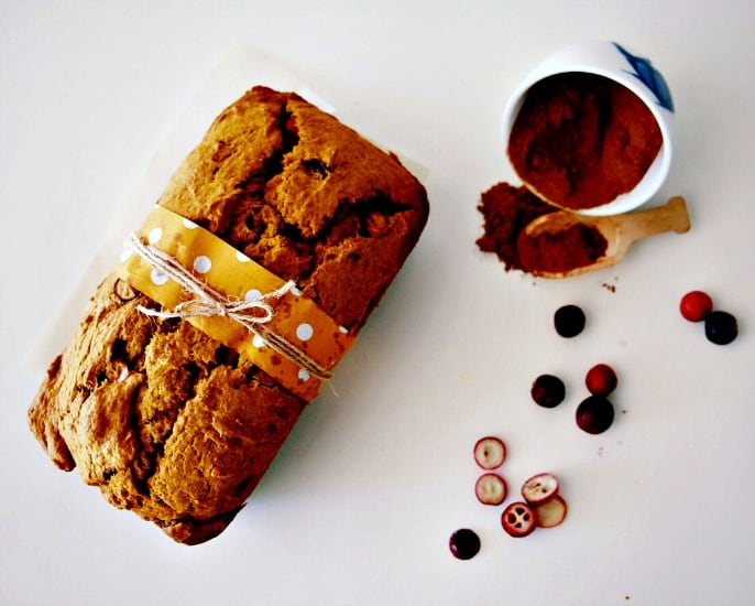 Pumpkin and Fresh Cranberry Bread