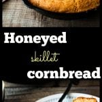 Honeyed Skillet Cornbread. Easy skillet cornbread, all in one pot, and naturally sweetened.