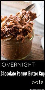 Overnight Chocolate Peanut Butter Cup Oats