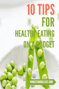 Healthy eating on a budget pin