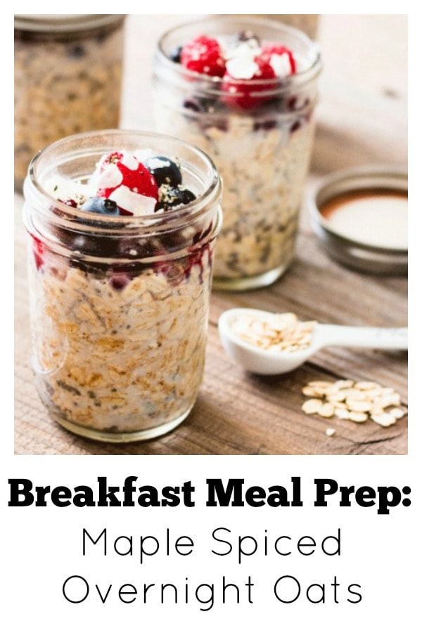 Maple Spiced Chia Overnight Oats