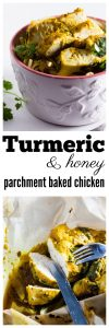 Turmeric and Chicken Parchment Baked Chicken