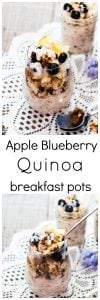 Apple Blueberry Quinoa Breakfast Pot with Maple Yoghurt Dressing