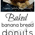 Baked Banana Breakfast Doughnuts
