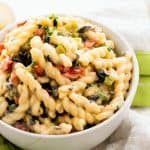Lightened Up Creamy Pasta Salad