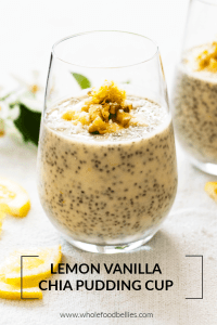 Lemon Vanilla Chia Pudding Cup
