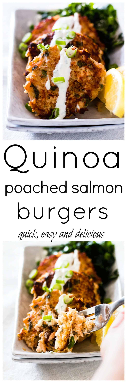 Quinoa and Milk Poached Salmon Burger