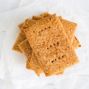overhead shot of homemade graham crackers