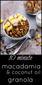 Super Easy Homemade Granola with Macadamia and Coconut Oil