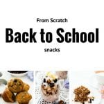 Easy Made From Scratch Back to School Snack Ideas