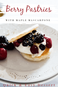 Berry Pastries with Maple Mascarpone Cream