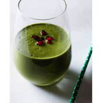Kale pomegranate and coconut smoothie
