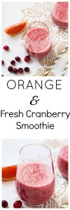 Rejuvenating Orange and Fresh Cranberry Smoothie