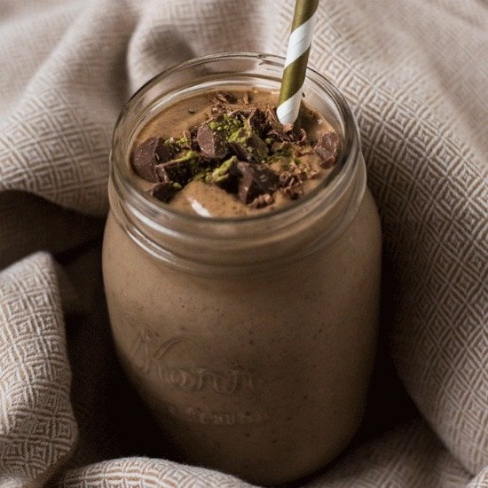 Energizing Chocolate Matcha Green Tea Smoothie