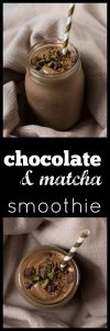 energizing chocolate matcha smoothie
