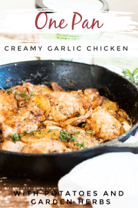 One pan creamy garlic chicken