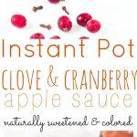 Clove and Cranberry Apple Sauce
