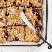 Grab and Go Coconut and Blueberry Oatmeal Bars