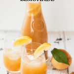 Fresh Peach and Honey Lemonade