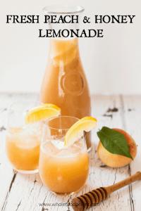 Fresh Peach and Honey Lemonade