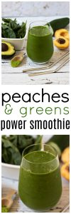 Peaches and Green Power Smoothie