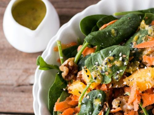 Garlicky Orange Spinach Salad