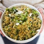 Goat Cheese Quinoa and Broccoli Casserole in the Instant Pot