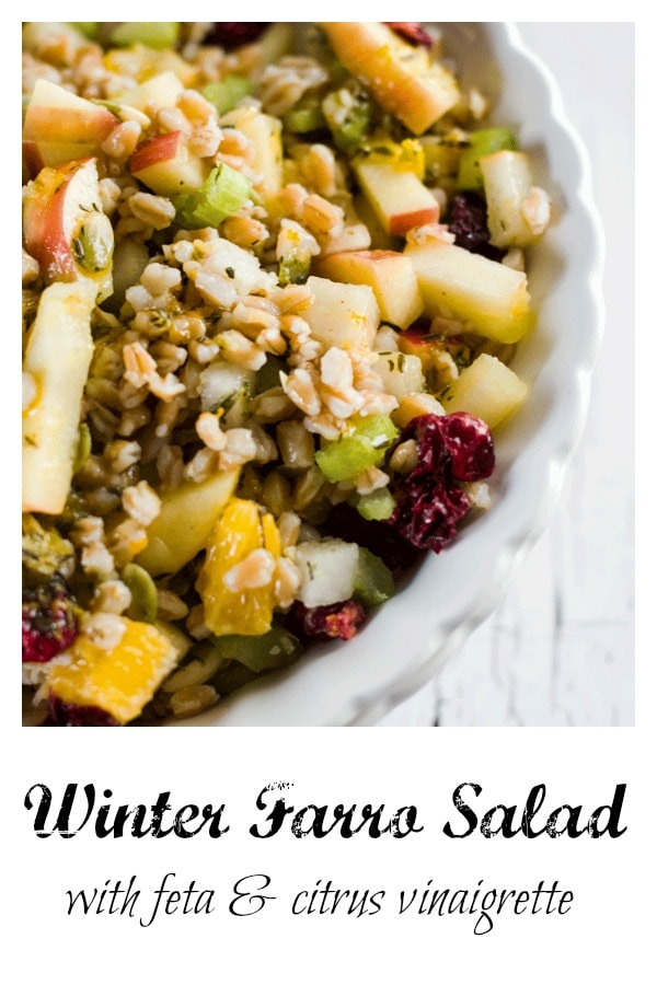 winter Farro Salad with Feta and Citrus Vinaigrette