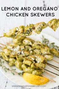 Lemon Oregano Chicken Skewers