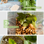 4 ingredient mint pesto from scratch
