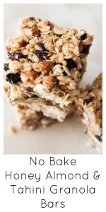 Healthy no bake granola bar