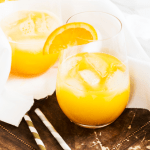 citrus juice with ice