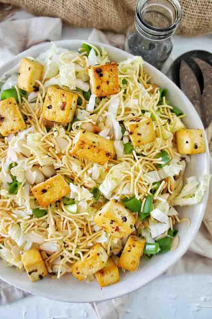 fried noodle salad