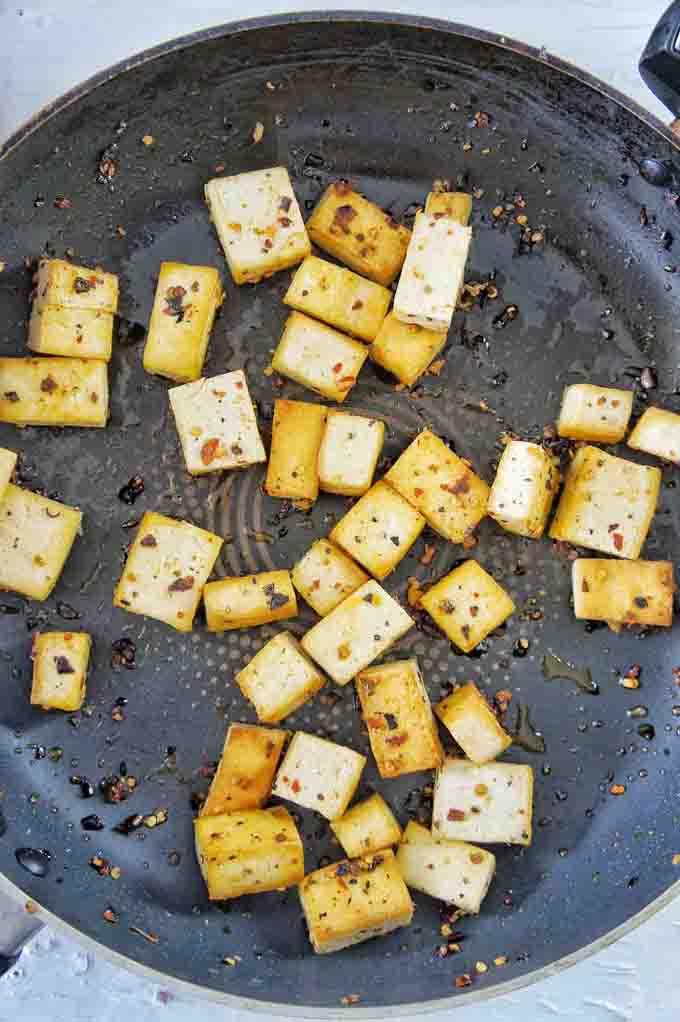 Tofu used for Fried Noodle Salad