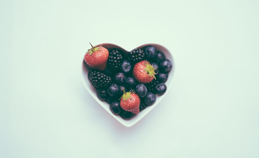 berries in a bowl for heart health month