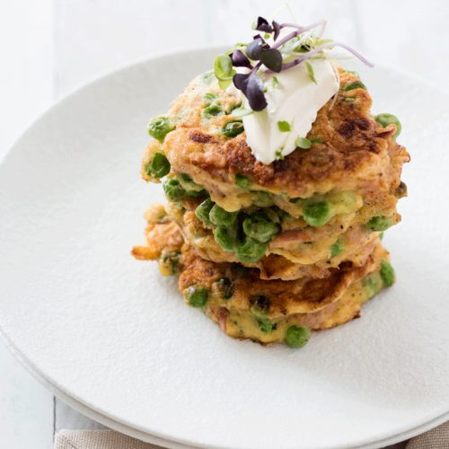 5 Ingredient Ham and Pea Fritters