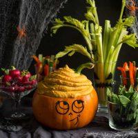 Healthy Halloween Pumpkin Dip - The Hedgecombers
