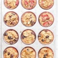 Healthy Toddler Banana Oat Muffins – 3 Ways!