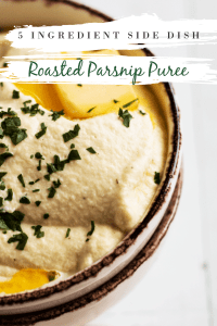roasted parsnip puree