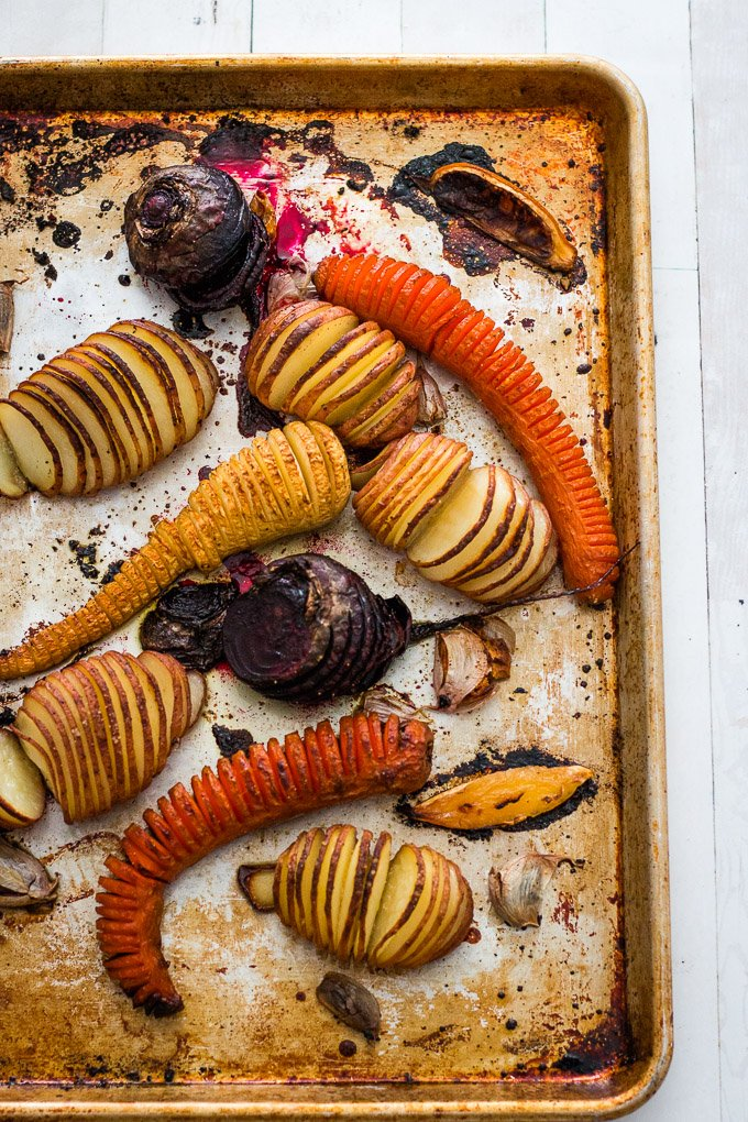 garlic hasselback potatoes